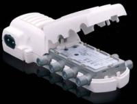 Усилитель Televes Крокодил 5457 (1 вх.-2 вых, 1 выход ТВ, коннектор IEC, 12 В, для предус.)