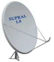 Спутниковая антенна Супрал 1,8м, азимут., столб